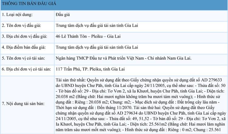 Ngày 22/10/2021, đấu giá quyền sử dụng đất tại huyện Chư Păh, tỉnh Gia Lai ảnh 1