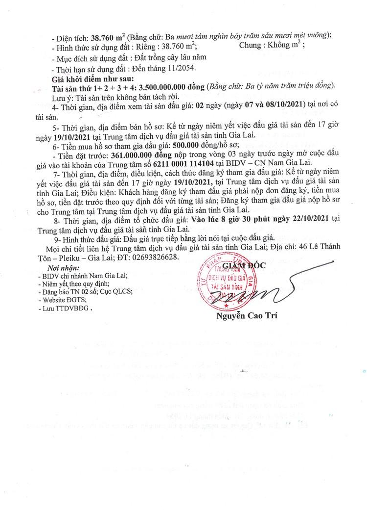 Ngày 22/10/2021, đấu giá quyền sử dụng đất tại huyện Chư Păh, tỉnh Gia Lai ảnh 5