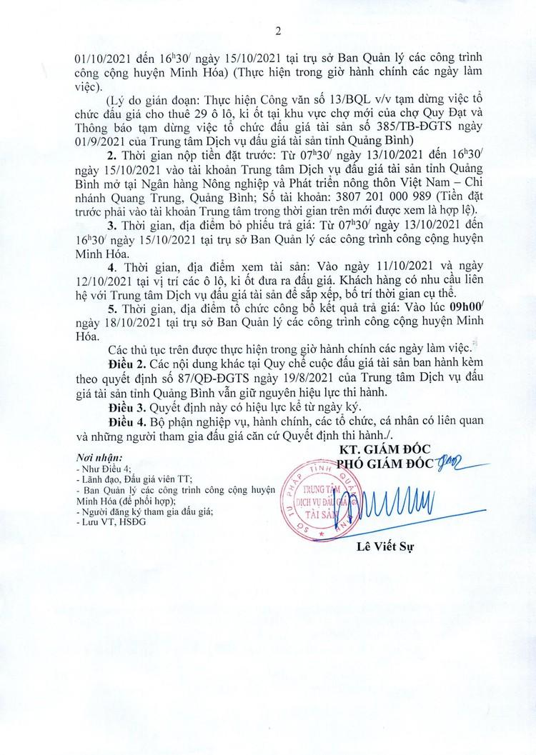 Ngày 18/10/2021, đấu giá cho thuê 29 ô lô, ki ốt tại tỉnh Quảng Bình ảnh 3
