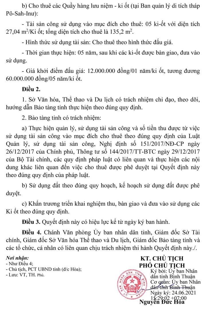 Ngày 21/10/2021, đấu giá mặt bằng căn tin, quầy giải khát tại tỉnh Bình Thuận ảnh 3