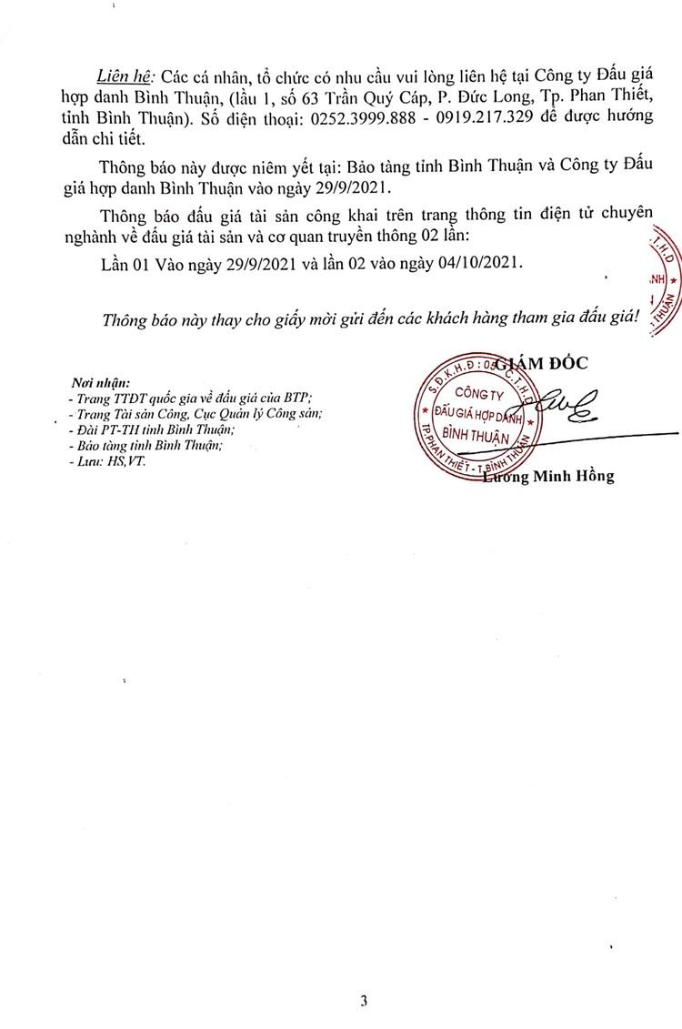 Ngày 21/10/2021, đấu giá mặt bằng căn tin, quầy giải khát tại tỉnh Bình Thuận ảnh 6
