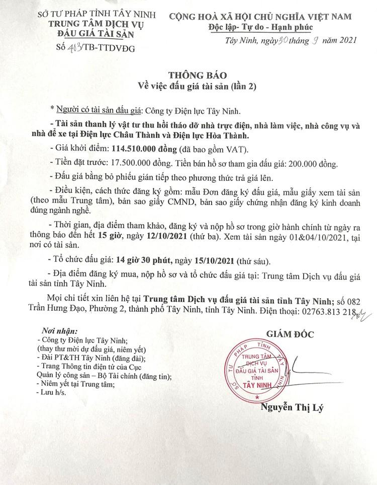 Ngày 15/10/2021, đấu giá thanh lý vật tư thu hồi tháo dỡ nhà trực điện, nhà làm việc tại tỉnh Tây Ninh ảnh 3