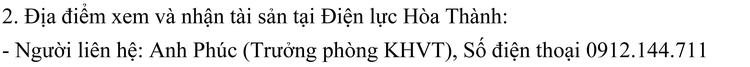 Ngày 15/10/2021, đấu giá thanh lý vật tư thu hồi tháo dỡ nhà trực điện, nhà làm việc tại tỉnh Tây Ninh ảnh 5