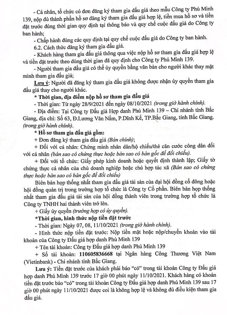 Ngày 12/10/2021, đấu giá 2 xe ô tô tại tỉnh Bắc Giang ảnh 3