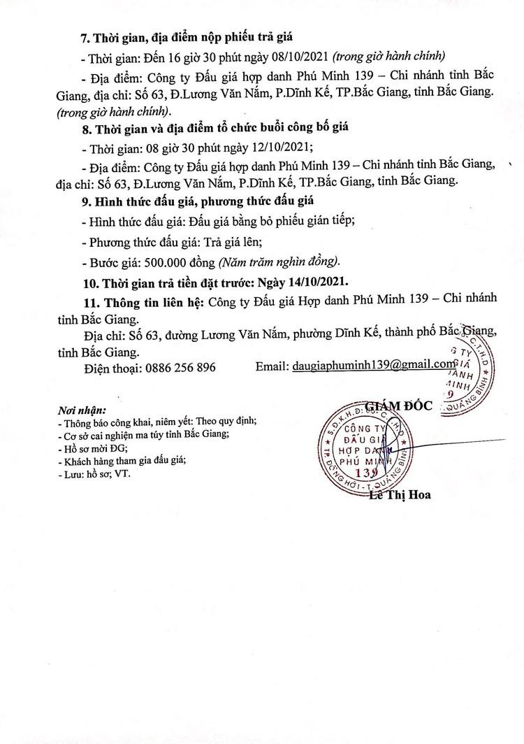 Ngày 12/10/2021, đấu giá 2 xe ô tô tại tỉnh Bắc Giang ảnh 4