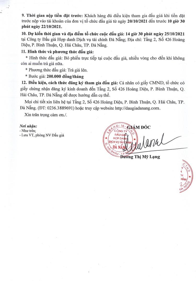 Ngày 25/10/2021, đấu giá quyền sử dụng và khai thác mặt bằng bãi để xe tại Trường THPT Tôn Thất Tùng, TP. Đà Nẵng ảnh 4