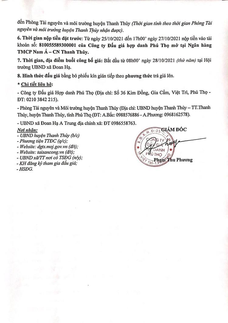 Ngày 28/10/2021, đấu giá quyền sử dụng 6 lô đất tại huyện Thanh Thủy, tỉnh Phú Thọ ảnh 3
