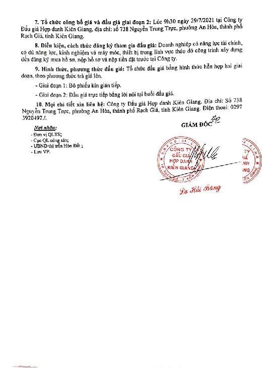 Ngày 22/10/2021, đấu giá thanh lý tháo dỡ nhà kho lưu trữ và nhà để xe tại tỉnh Kiên Giang ảnh 5