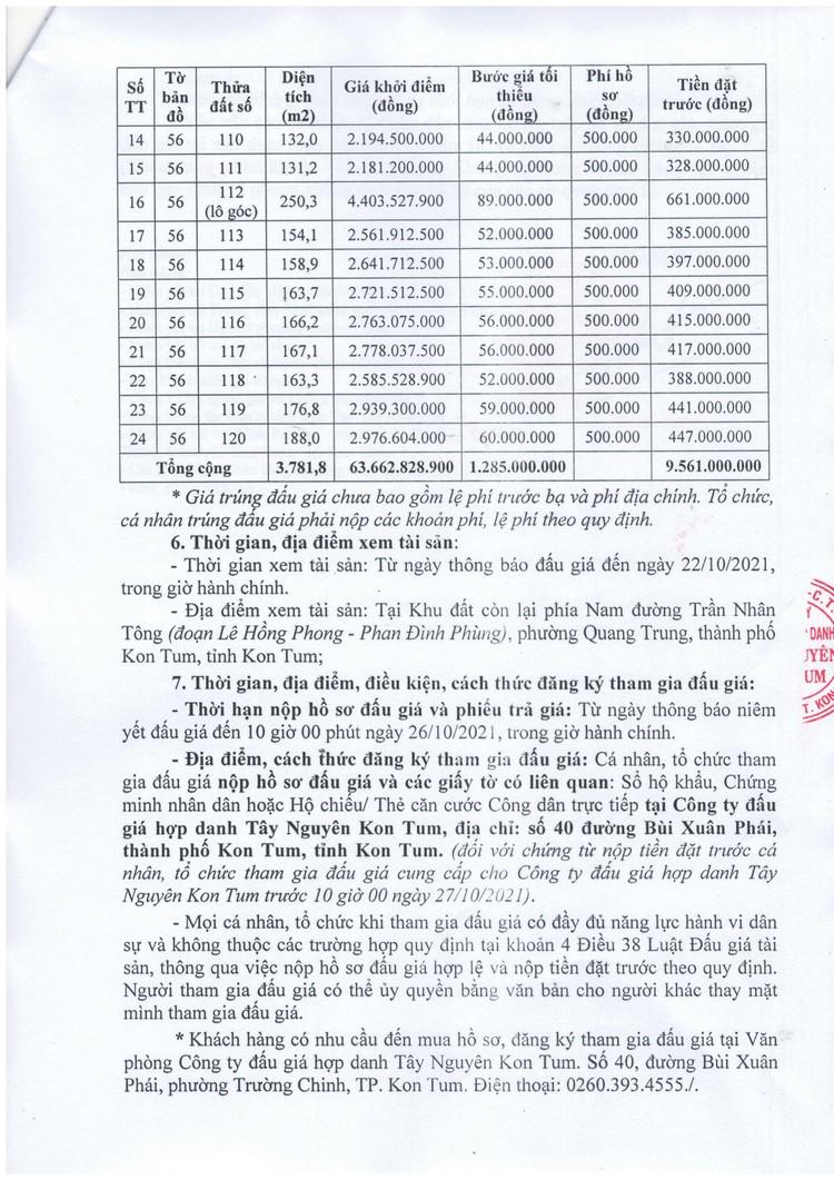 Ngày 29/10/2021, đấu giá quyền sử dụng 24 thửa đất tại thành phố Kon Tum, tỉnh Kon Tum ảnh 4