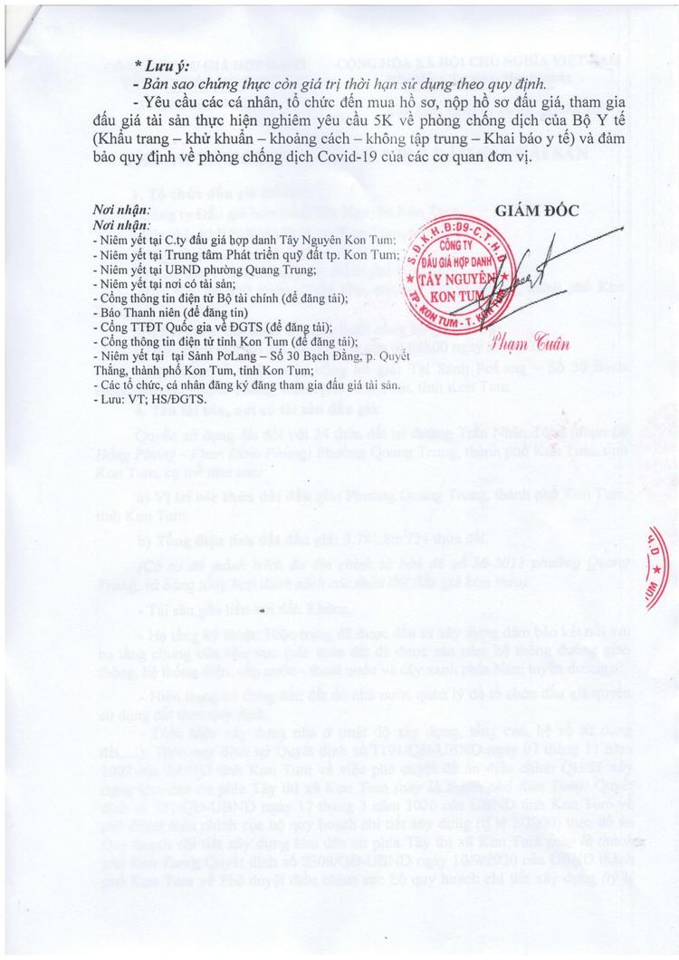 Ngày 29/10/2021, đấu giá quyền sử dụng 24 thửa đất tại thành phố Kon Tum, tỉnh Kon Tum ảnh 5
