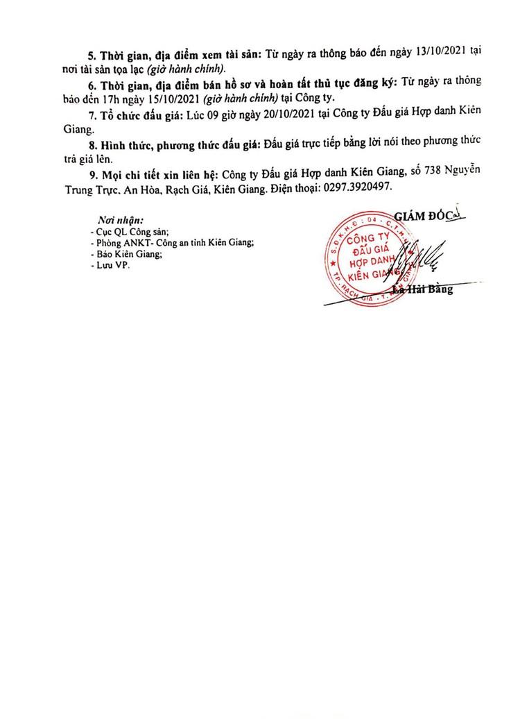 Ngày 20/10/2021, đấu giá Tàu cá Dũng Toàn tại tỉnh Kiên Giang ảnh 4