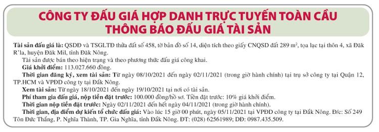 Ngày 5/11/2021, đấu giá quyền sử dụng đất tại huyện Đắk Mil, tỉnh Đắk Nông ảnh 1