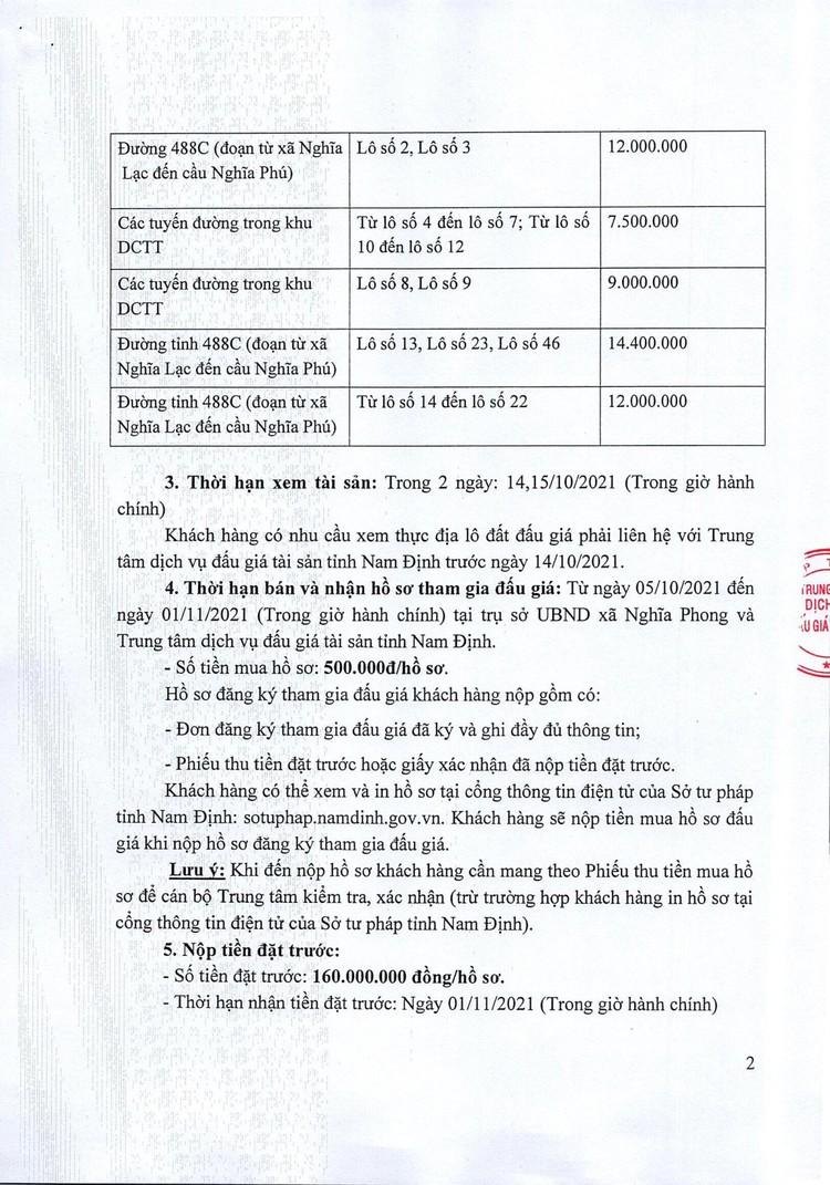 Ngày 4/11/2021, đấu giá quyền sử dụng đất tại huyện Nghĩa Hưng, tỉnh Nam Định ảnh 3