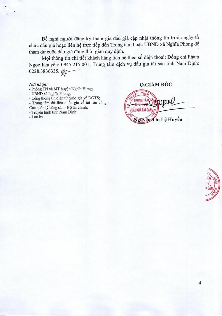 Ngày 4/11/2021, đấu giá quyền sử dụng đất tại huyện Nghĩa Hưng, tỉnh Nam Định ảnh 5