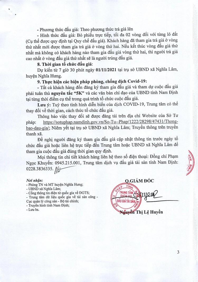 Ngày 1/11/2021, đấu giá quyền sử dụng đất tại huyện Nghĩa Hưng, tỉnh Nam Định ảnh 4