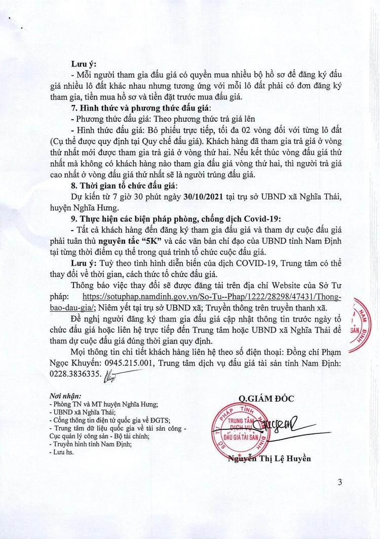 Ngày 30/10/2021, đấu giá quyền sử dụng đất tại huyện Nghĩa Hưng, tỉnh Nam Định ảnh 4