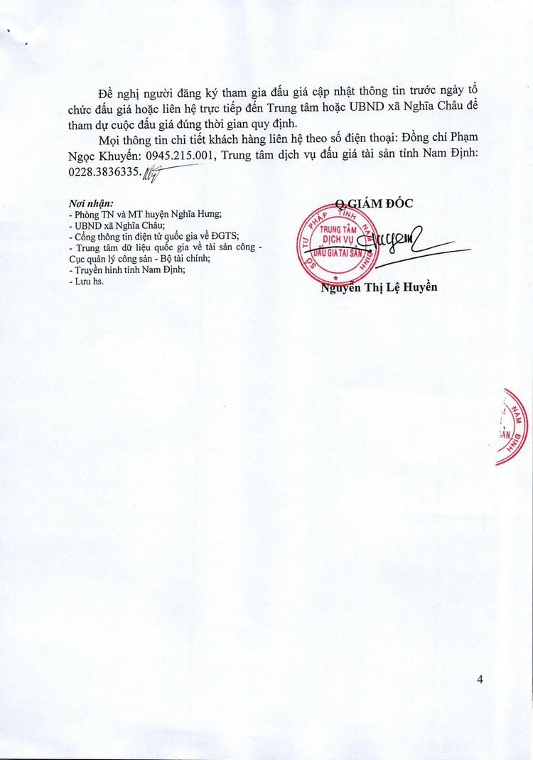 Ngày 28/10/2021, đấu giá quyền sử dụng đất tại huyện Nghĩa Hưng, tỉnh Nam Định ảnh 5