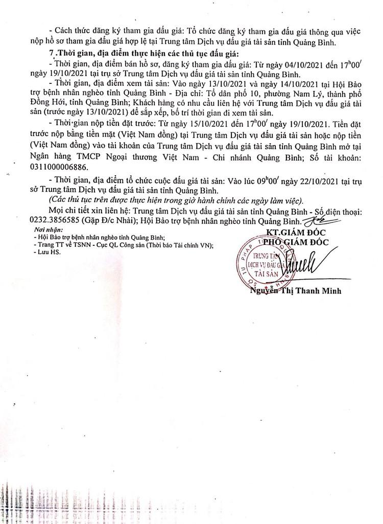 Ngày 22/10/2021, đấu giá cho thuê diện tích mặt bằng tại tỉnh Quảng Bình ảnh 3