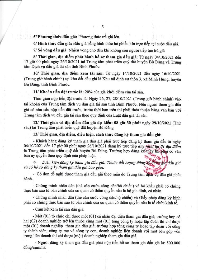 Ngày 29/10/2021, đấu giá quyền sử dụng 28 lô đất tại huyện Bù Đăng, tỉnh Bình Phước ảnh 4