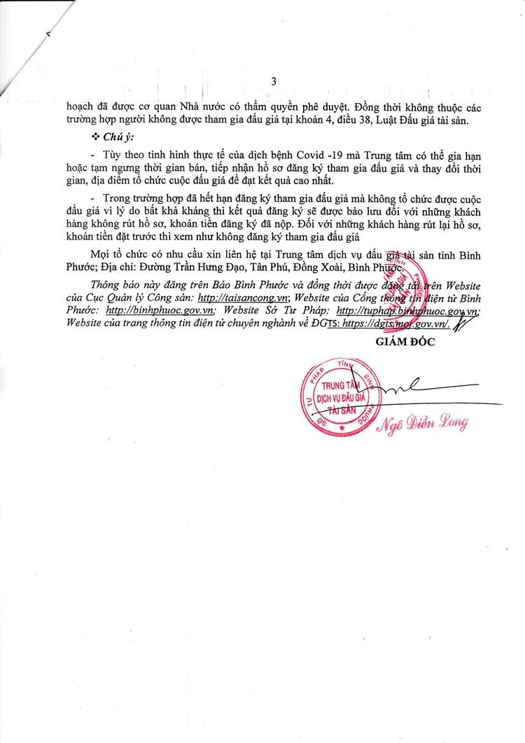 Ngày 29/10/2021, đấu giá quyền sử dụng đất tại huyện Bù Đăng, tỉnh Bình Phước ảnh 4