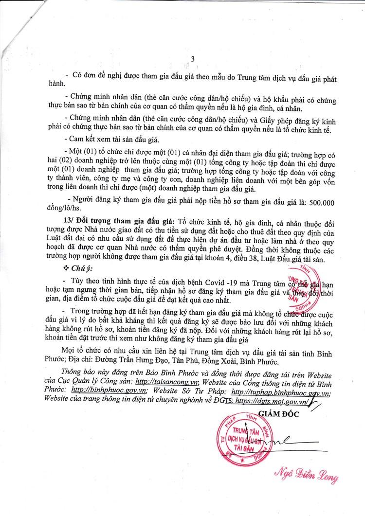 Ngày 29/10/2021, đấu giá quyền sử dụng 9 lô đất tại huyện Bù Đăng, tỉnh Bình Phước ảnh 4