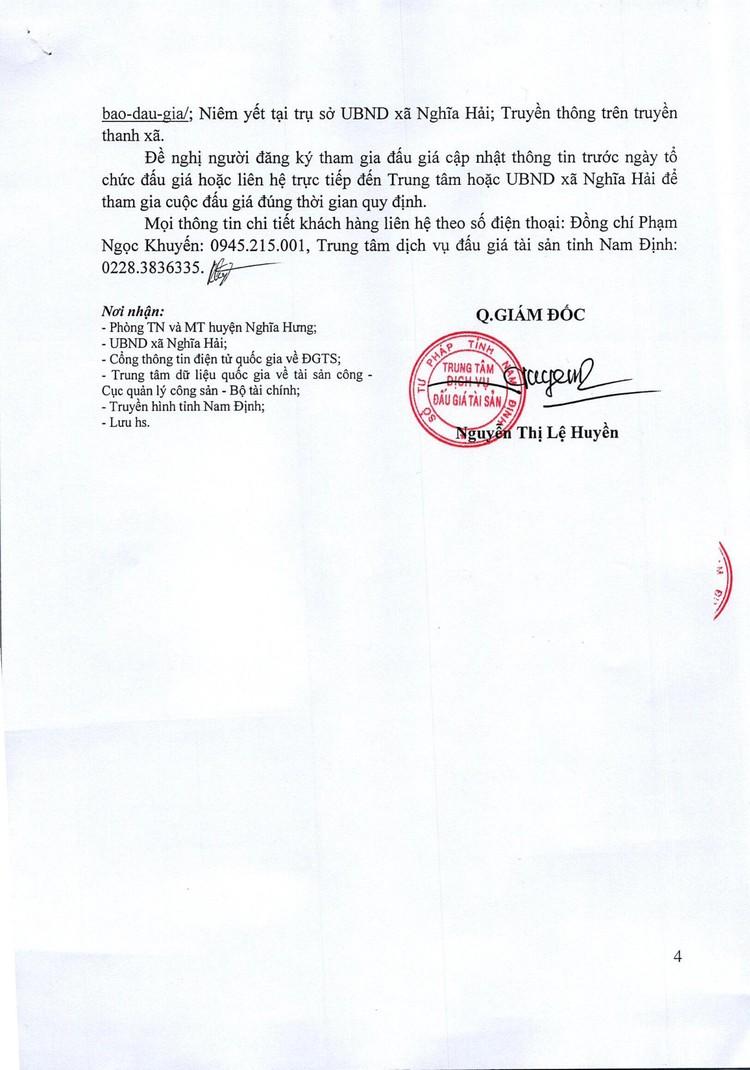Ngày 7/11/2021, đấu giá quyền sử dụng đất tại huyện Nghĩa Hưng, tỉnh Nam Định ảnh 5