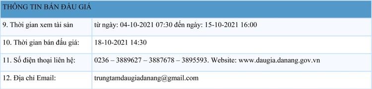 Ngày 18/10/2021, đấu giá lô 3 xe ô tô đã qua sử dụng tại thành phố Đà Nẵng ảnh 2