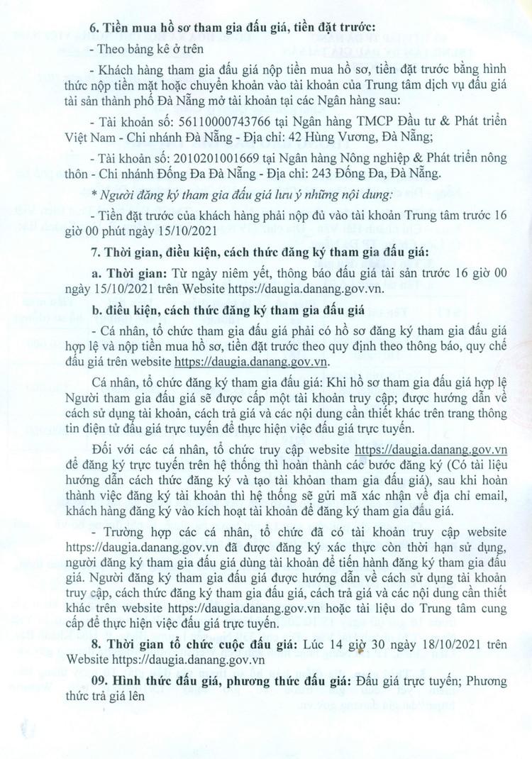 Ngày 18/10/2021, đấu giá lô 3 xe ô tô đã qua sử dụng tại thành phố Đà Nẵng ảnh 4
