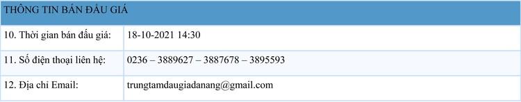 Ngày 18/10/2021, đấu giá sắt, thép tổng hợp tại thành phố Đà Nẵng ảnh 2