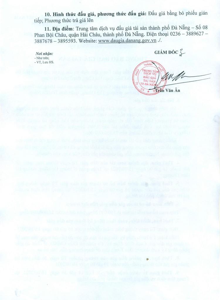Ngày 18/10/2021, đấu giá sắt, thép tổng hợp tại thành phố Đà Nẵng ảnh 4
