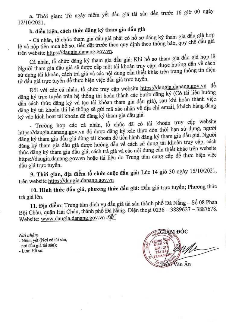 Ngày 15/10/2021, đấu giá tài sản thu hồi từ đường dây trung và hạ thế tại thành phố Đà Nẵng ảnh 3