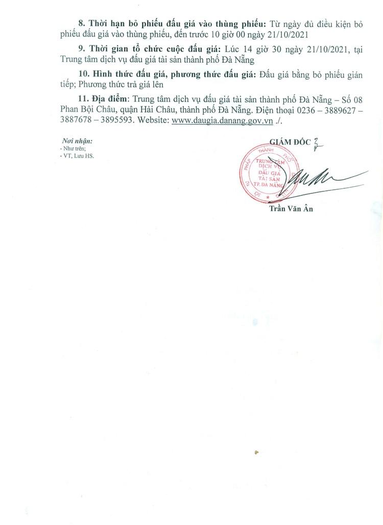 Ngày 21/10/2021, đấu giá tang vật tịch thu do vi phạm hành chính tại thành phố Đà Nẵng ảnh 3