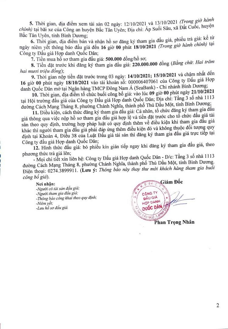 Ngày 21/10/2021, đấu giá 13 xe ô tô tải và xe tự đổ tại tỉnh Bình Dương ảnh 3