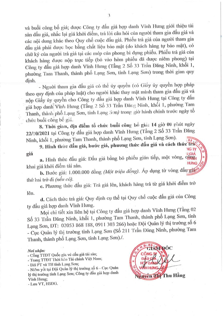 Ngày 22/10/2021, đấu giá tang vật vi phạm hành chính bị tịch thu tại tỉnh Lạng Sơn ảnh 5