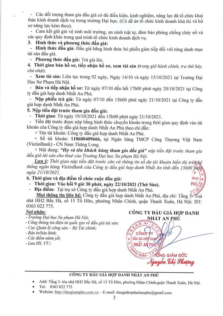 Ngày 22/10/2021, đấu giá cho thuê mặt bằng tổ chức khai thác dịch vụ tại Hà Nội ảnh 3