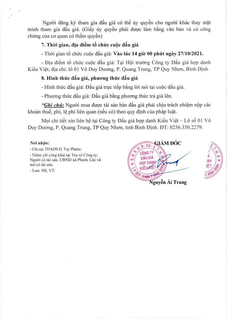 Ngày 27/10/2021, đấu giá quyền sử dụng đất tại huyện Tuy Phước, tỉnh Bình Định ảnh 4
