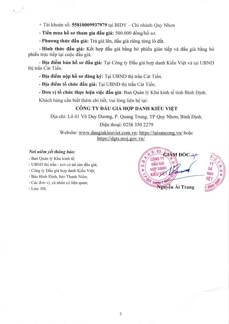 Ngày 20/11/2021, đấu giá quyền sử dụng đất tại huyện Phù Cát, tỉnh Bình Định ảnh 4