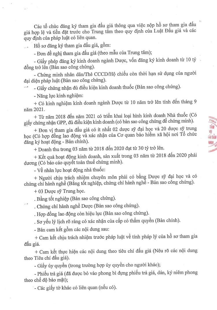 Ngày 28/10/2021, đấu giá thuê tài sản công để làm dịch vụ nhà thuốc tại TTYT huyện Yên Phong, tỉnh Bắc Ninh ảnh 4