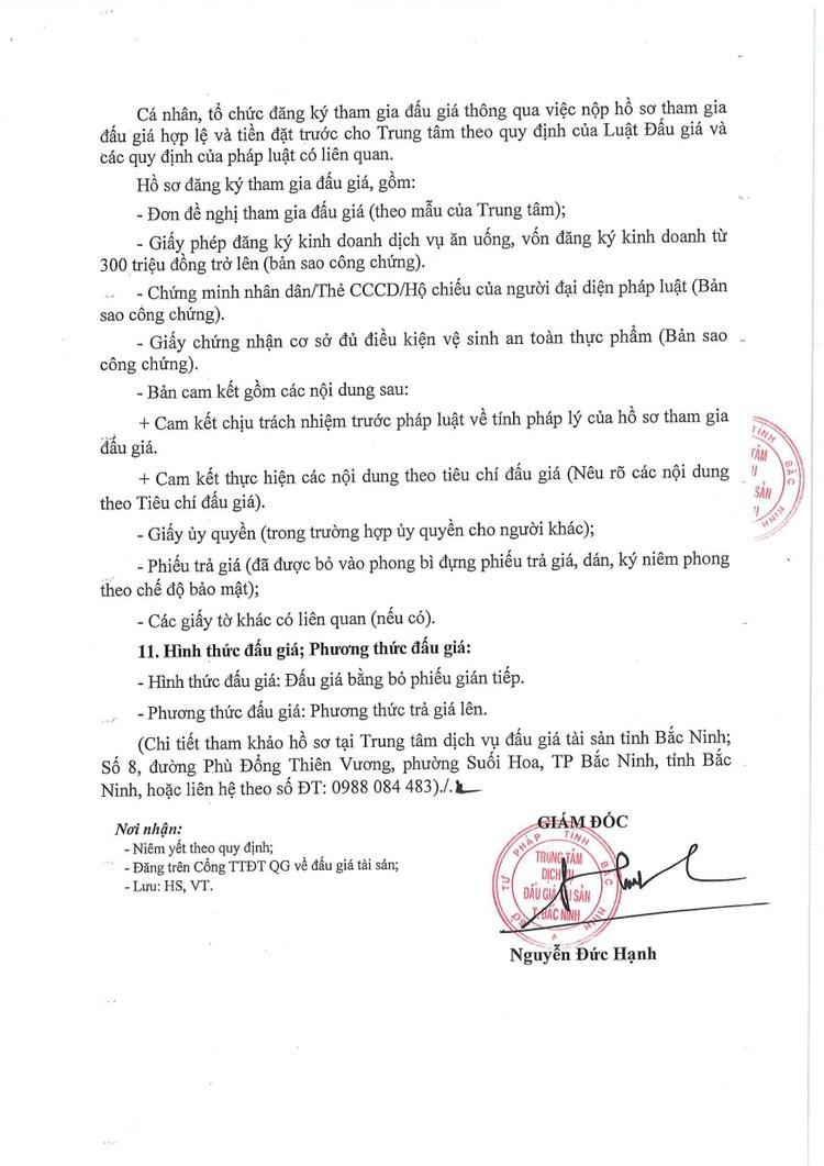 Ngày 28/10/2021, đấu giá thuê tài sản công để làm dịch vụ nhà ăn tại TTYT huyện Yên Phong, tỉnh Bắc Ninh ảnh 4