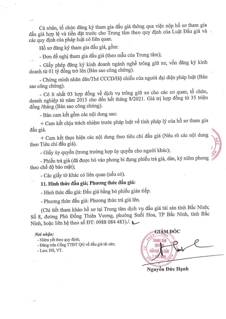Ngày 28/10/2021, đấu giá thuê tài sản công để làm dịch vụ trông xe tại TTYT huyện Yên Phong, tỉnh Bắc Ninh ảnh 4