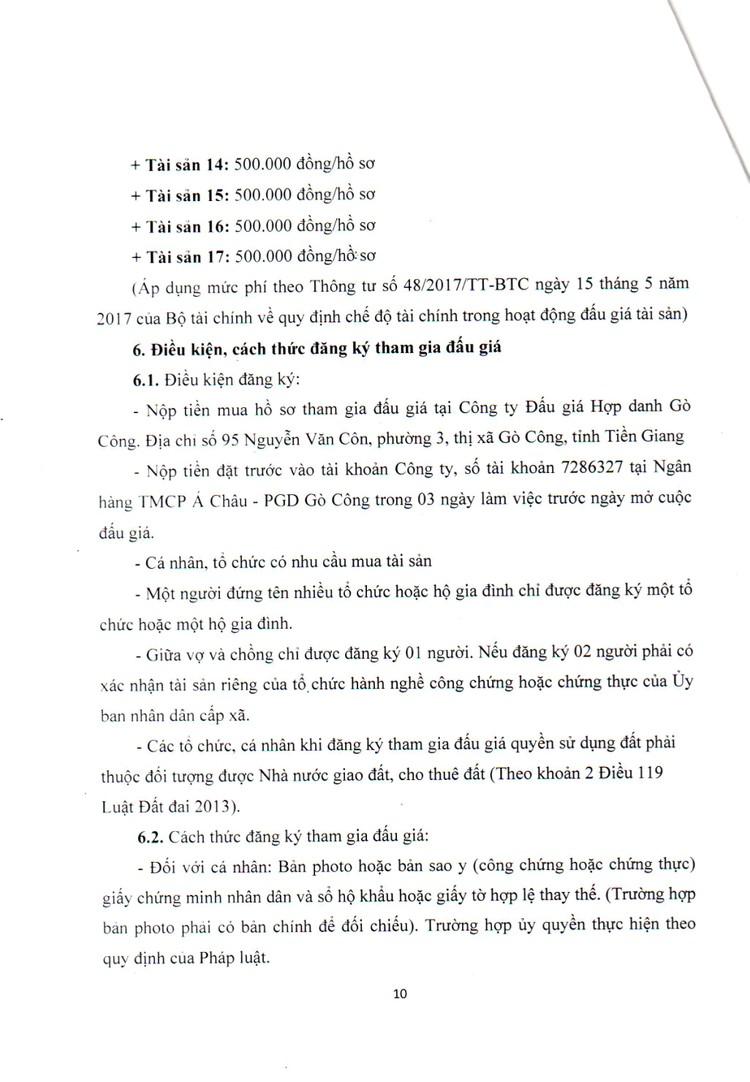 Ngày 5/11/2021, đấu giá quyền sử dụng đất tại huyện Gò Công Tây, tỉnh Tiền Giang ảnh 11