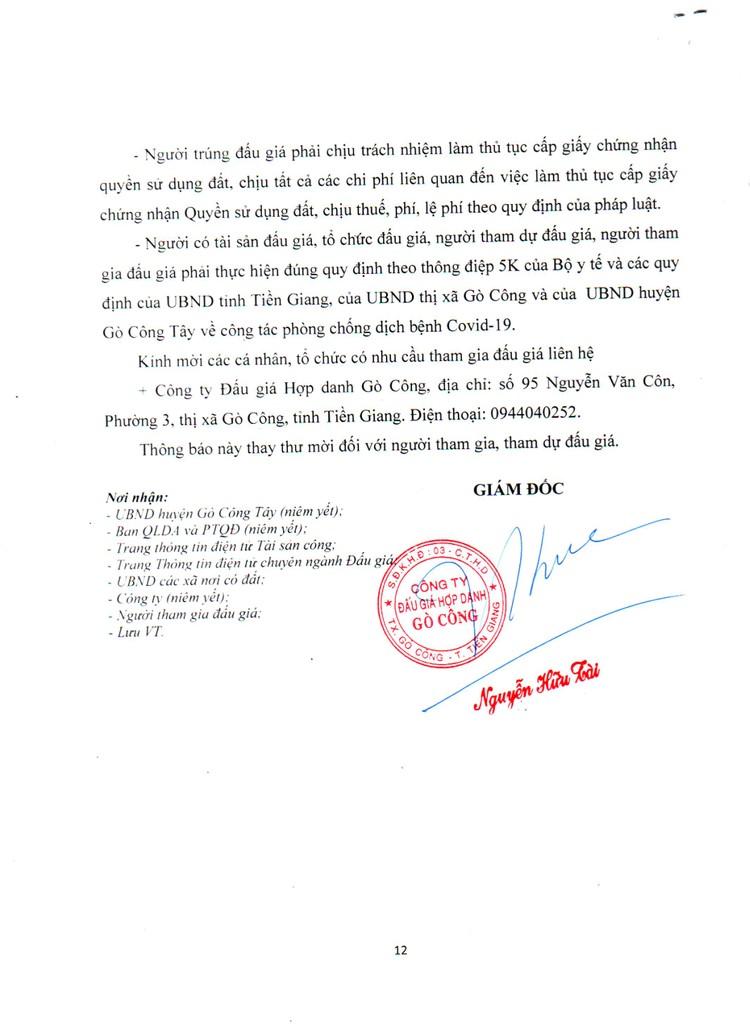 Ngày 5/11/2021, đấu giá quyền sử dụng đất tại huyện Gò Công Tây, tỉnh Tiền Giang ảnh 13