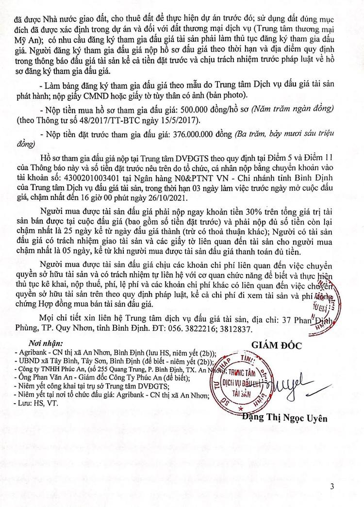 Ngày 29/10/2021, đấu giá các hạng mục công trình tại thị xã An Nhơn, tỉnh Bình Định ảnh 4