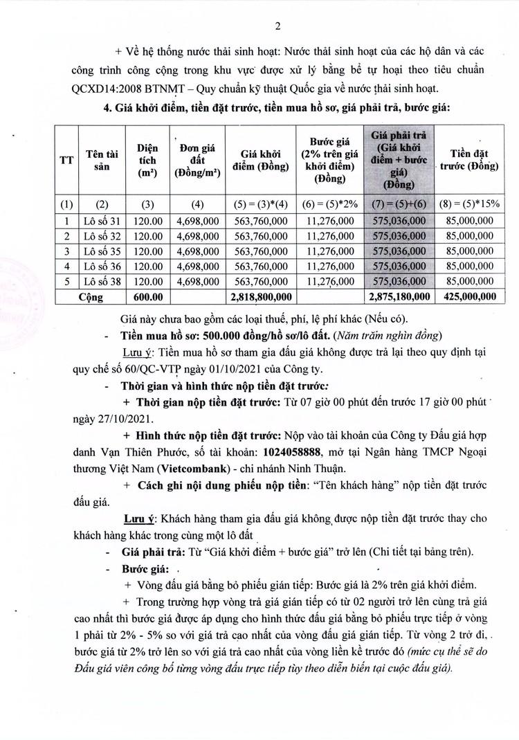 Ngày 30/10/2021, đấu giá quyền sử dụng 5 lô đất tại huyện Ninh Hải, tỉnh Ninh Thuận ảnh 3