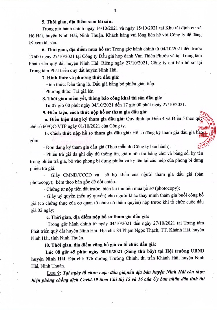 Ngày 30/10/2021, đấu giá quyền sử dụng 5 lô đất tại huyện Ninh Hải, tỉnh Ninh Thuận ảnh 4