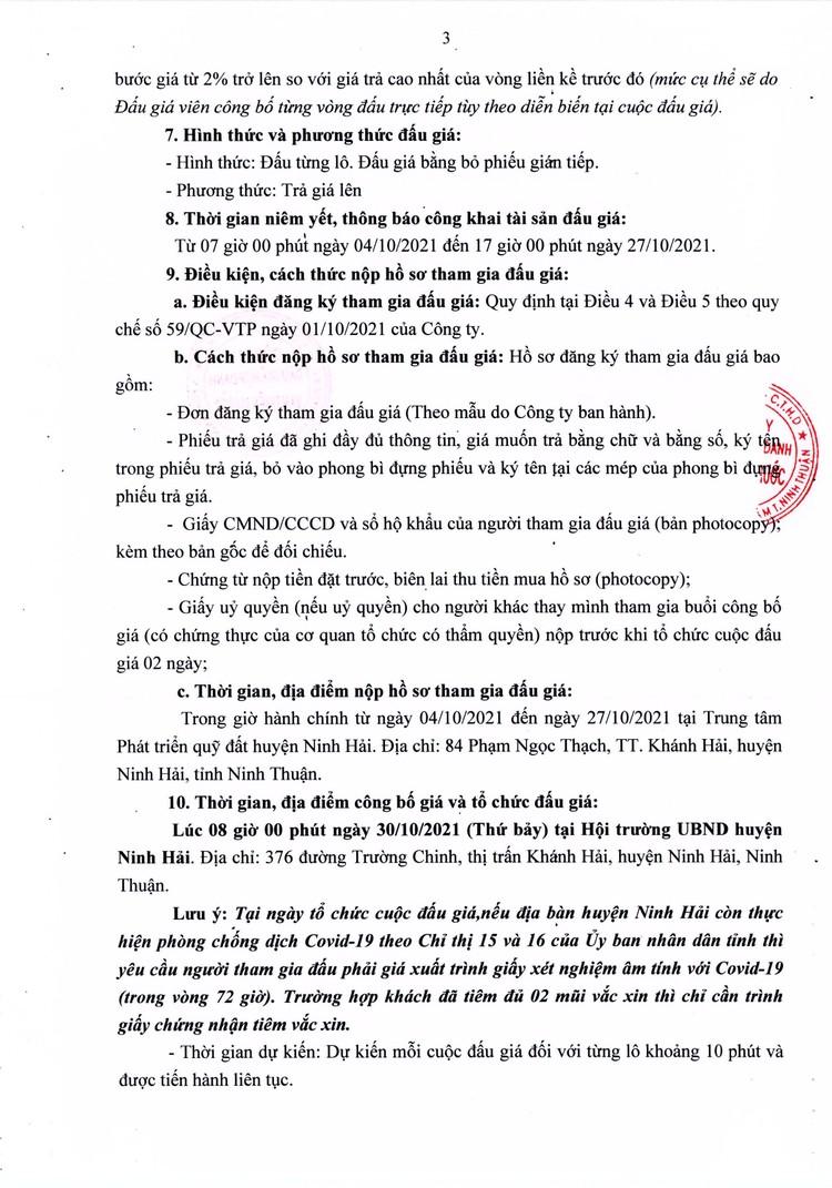 Ngày 30/10/2021, đấu giá quyền sử dụng 4 lô đất tại huyện Ninh Hải, tỉnh Ninh Thuận ảnh 4