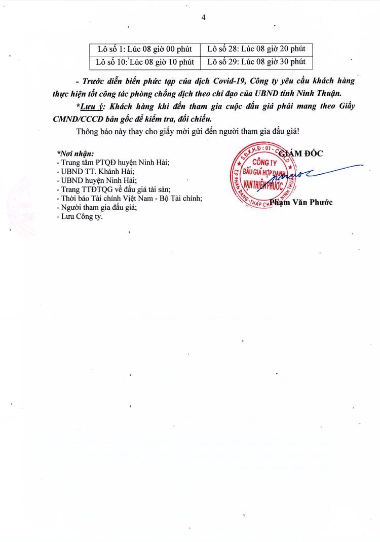 Ngày 30/10/2021, đấu giá quyền sử dụng 4 lô đất tại huyện Ninh Hải, tỉnh Ninh Thuận ảnh 5
