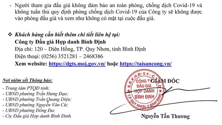 Ngày 30/10/2021, đấu giá quyền sử dụng 12 lô đất tại TP. Quy Nhơn, tỉnh Bình Định ảnh 4