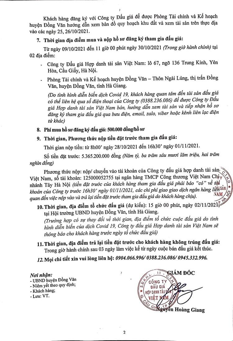 Ngày 2/11/2021, đấu giá quyền sử dụng 1.237,4 m2 đất tại huyện Đồng Văn, tỉnh Hà Giang ảnh 3