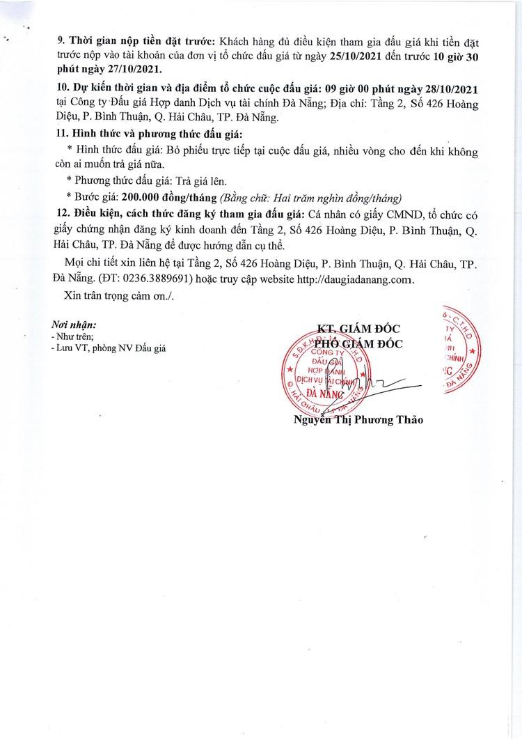 Ngày 28/10/2021, đấu giá quyền sử dụng và khai thác mặt bằng tại Trường THCS Hoàng Diệu, TP. Đà Nẵng ảnh 3
